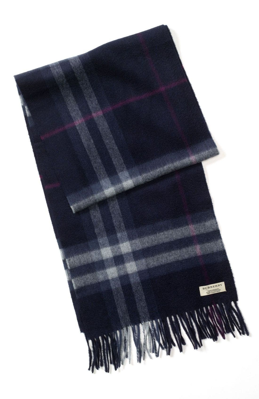 ,                             Heritage Check Cashmere Scarf,                             Main thumbnail 10, color,                             401