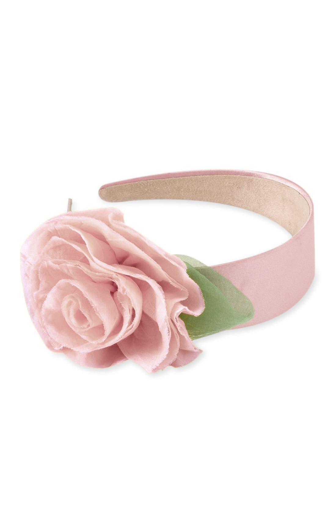 ,                             Floral Headband,                             Main thumbnail 4, color,                             650