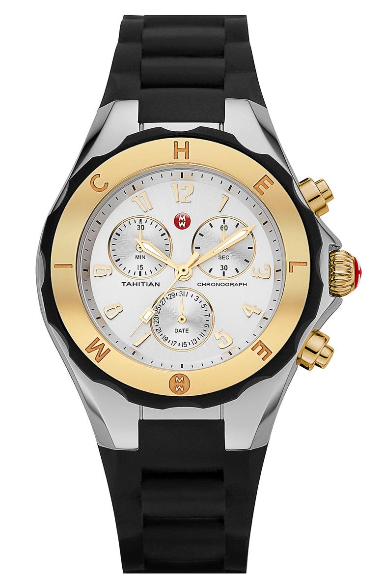 5f24aff0f MICHELE 'Tahitian Jelly Bean' Two Tone Watch, 40mm | Nordstrom