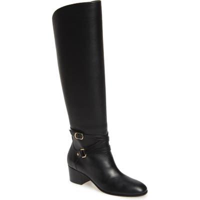 Jimmy Choo Huxlie Block Heel Tall Boot - Black