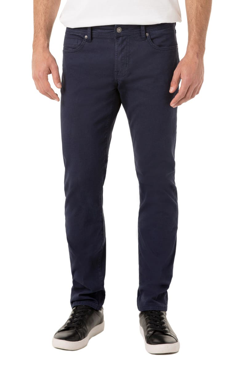 LIVERPOOL Kingston Slim Straight Leg Twill Pants, Main, color, CENTENNIAL BLUE