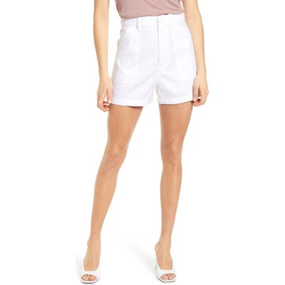 7 For All Mankind Patch Pocket High Waist Shorts, Green