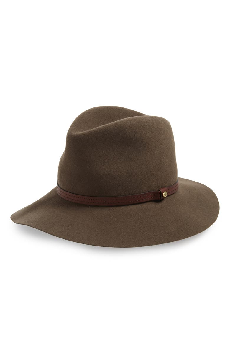 RAG & BONE Floppy Brim Felted Wool Fedora, Main, color, PECAN