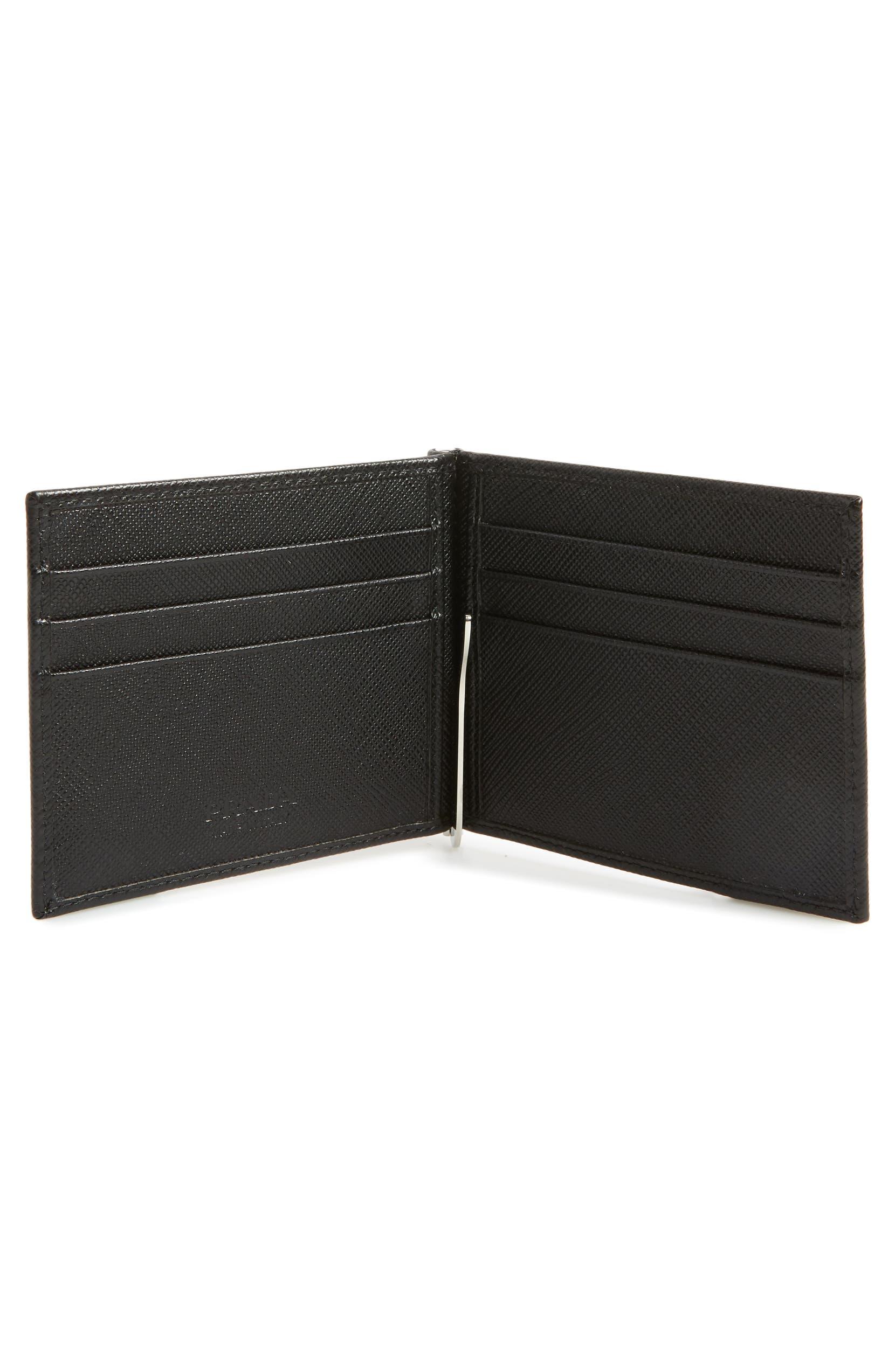 098c2425 Prada Saffiano Leather Money Clip Wallet   Nordstrom
