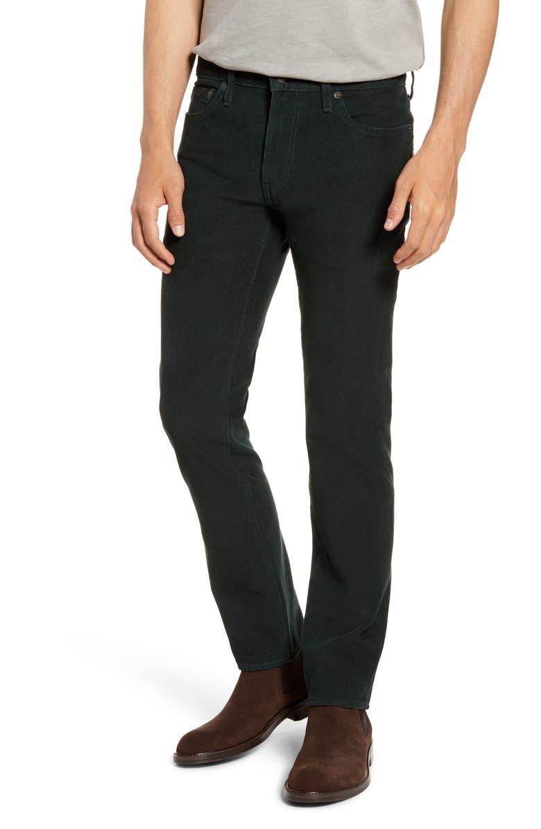 LEVI'S<SUP>®</SUP> 511<sup>™</sup> Slim Fit Five Pocket Corduroy Pants, Main, color, NIGHT LAGOON