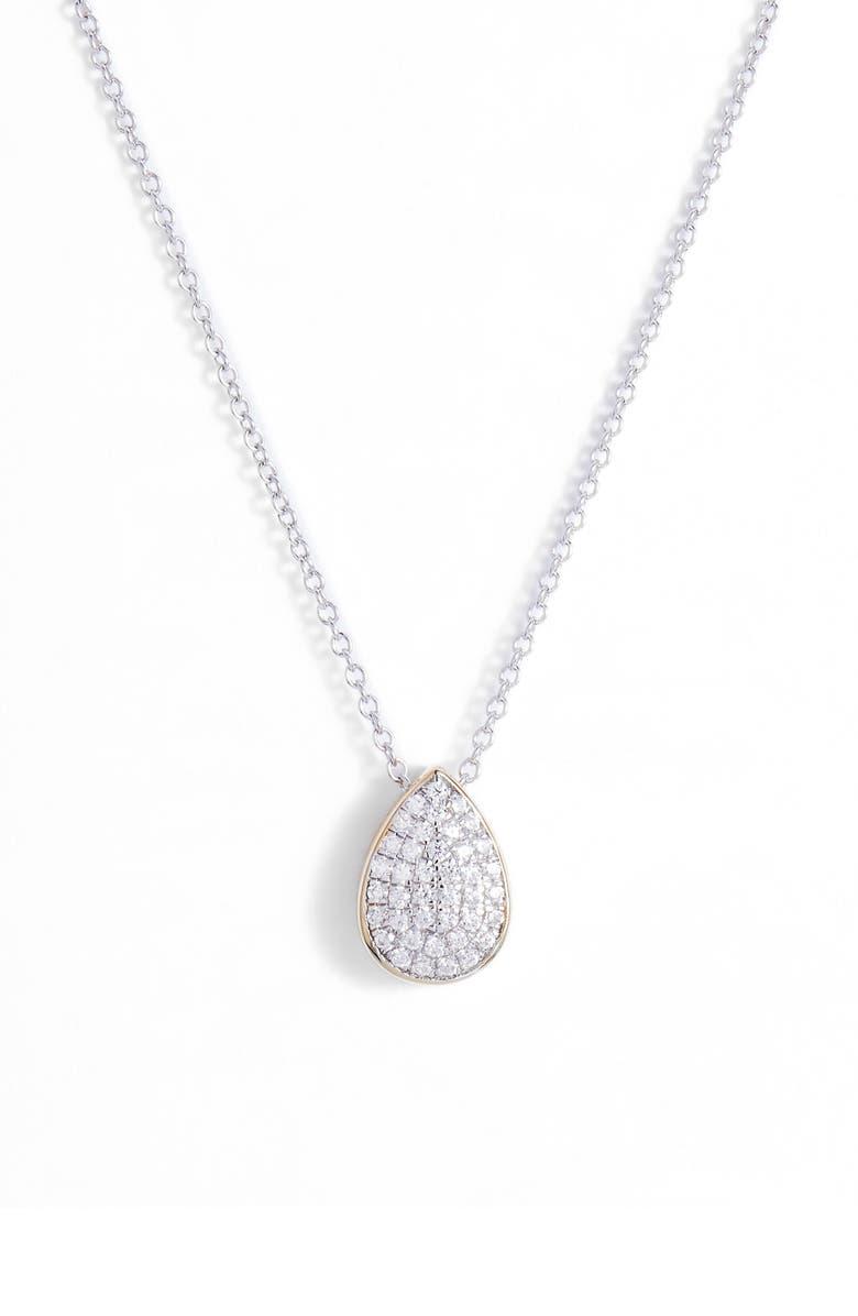 LAFONN Two-Tone Pear Shape Choker Necklace, Main, color, 040