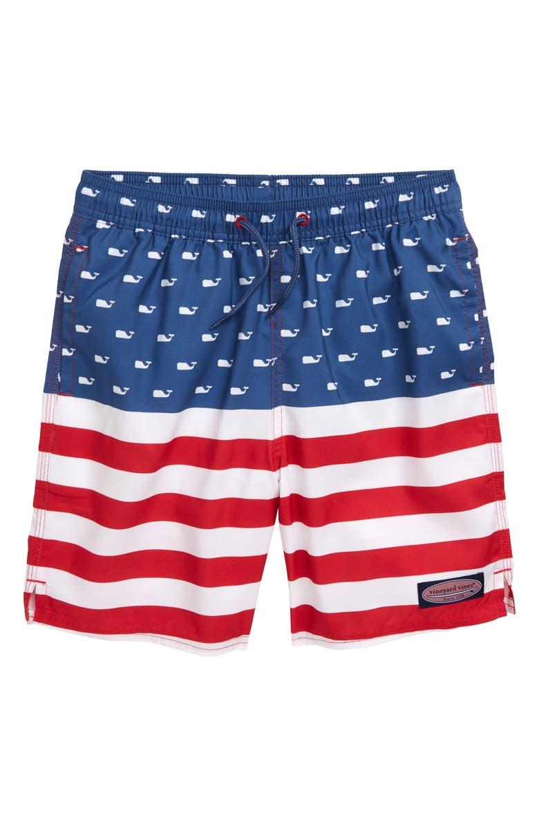 020e587364 vineyard vines Chappy USA Flag Swim Trunks (Big Boys) | Nordstrom