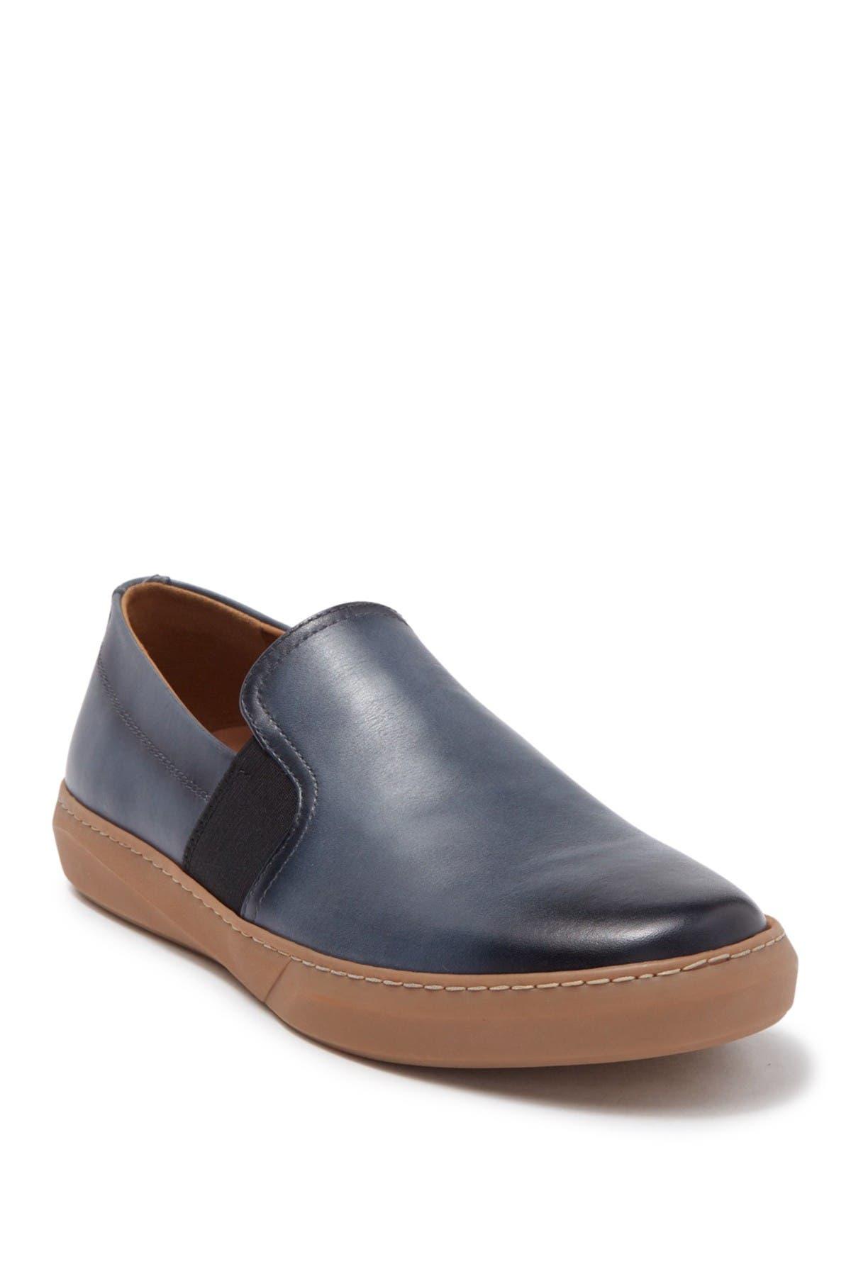 MORAL CODE Dustin Leather Slip-On Sneaker