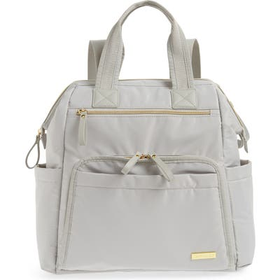 Skip Hop Mainframe Wide Open Diaper Backpack - Grey