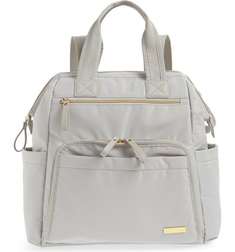SKIP HOP Mainframe Wide Open Diaper Backpack, Main, color, GREY