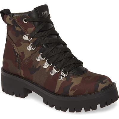 Steve Madden Bumper Camo Platform Hiking Boot- Green