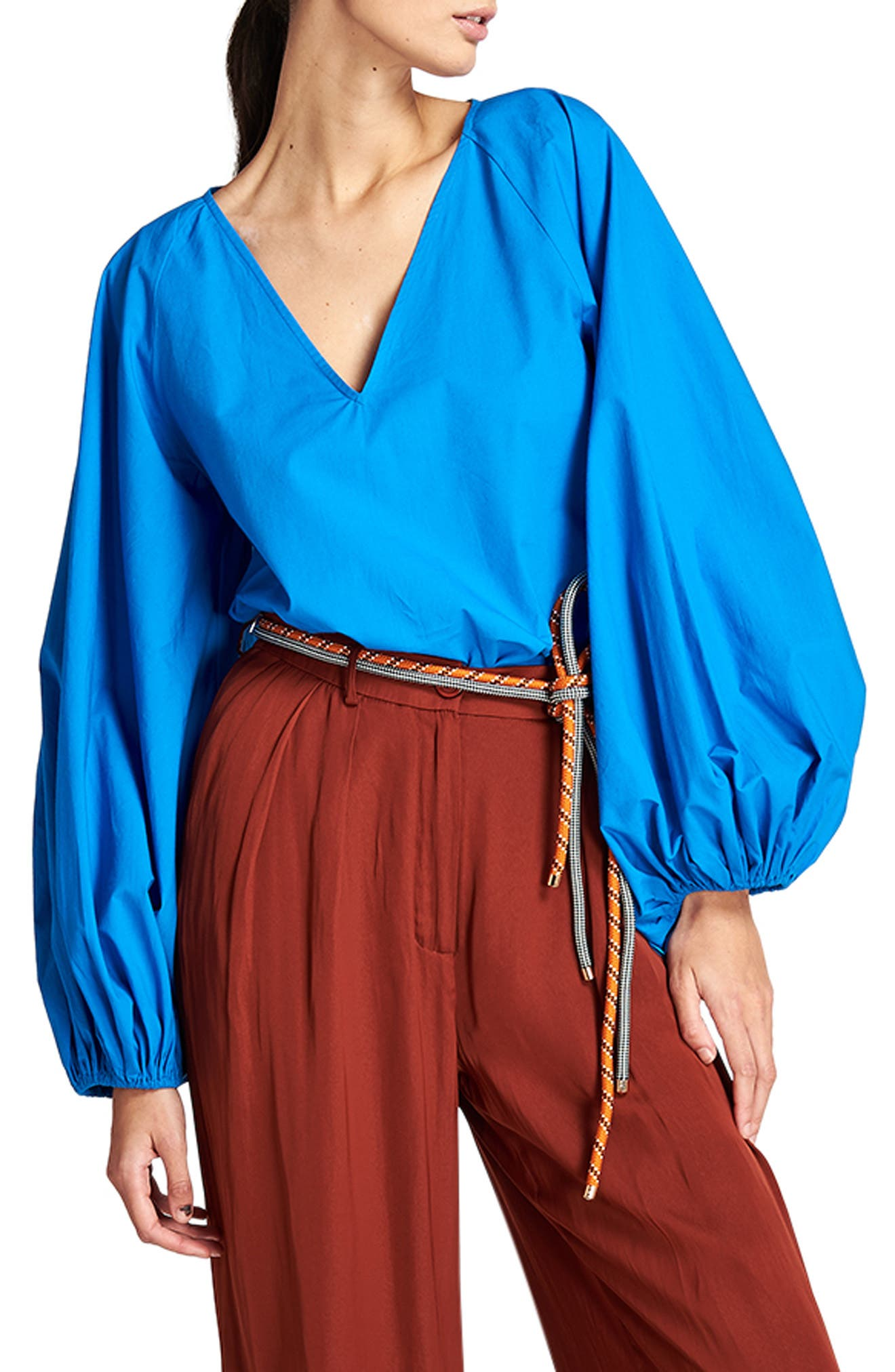 Women's Essential Antwerp Bold In All Its Simplicity Balloon Sleeve Cotton Top