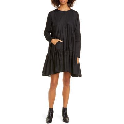 Merlette Martel Long Sleeve Cotton Tunic Dress, Black