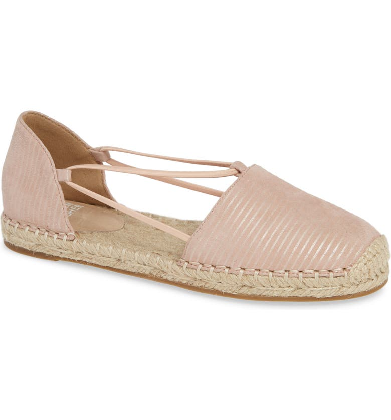EILEEN FISHER Lee Espadrille Flat, Main, color, BLUSH PRINTED SUEDE