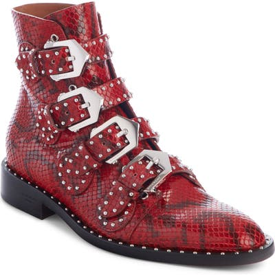 Givenchy Studded Ankle Boot, Red