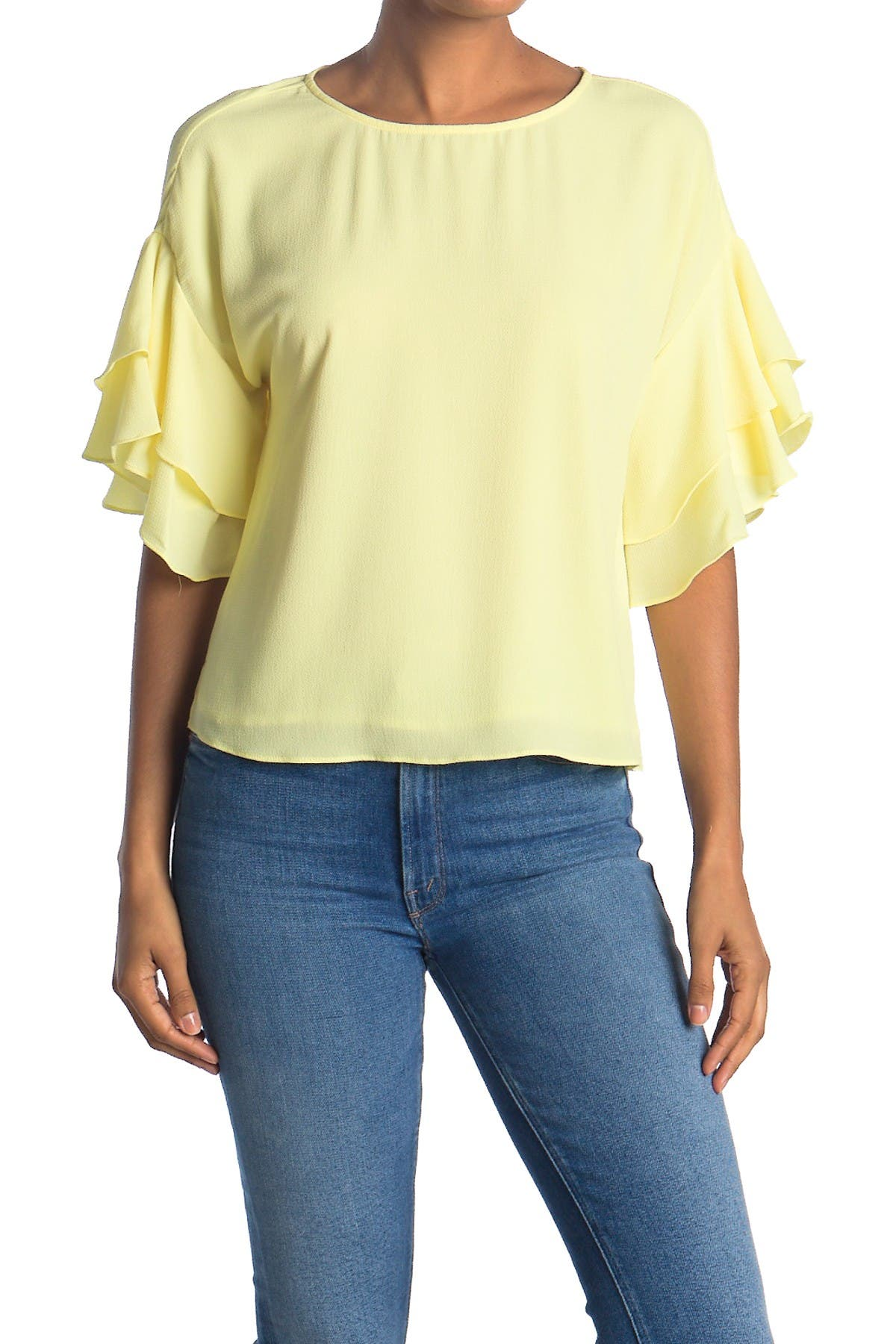 Image of Vince Camuto Tiered Ruffle Sleeve Blouse
