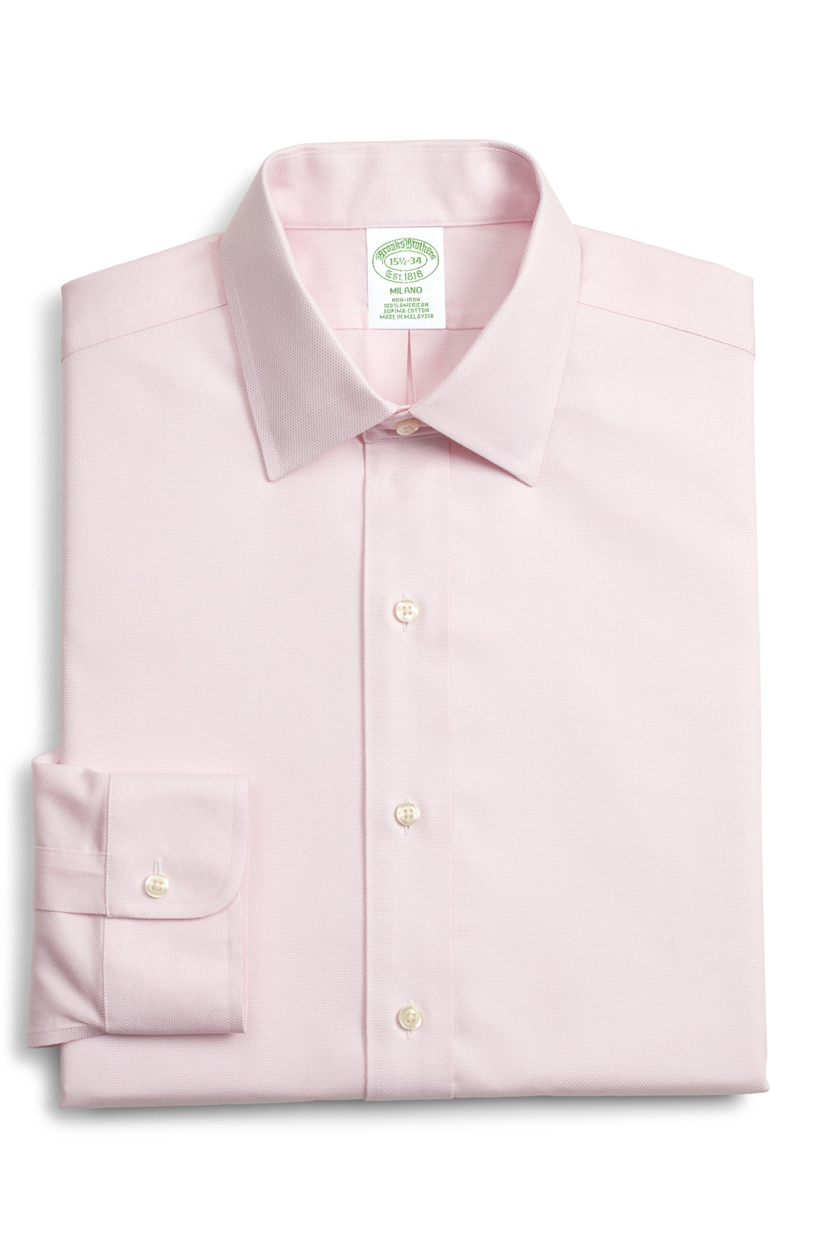Brooks Brothers Milano Slim Fit Print Dress Shirt