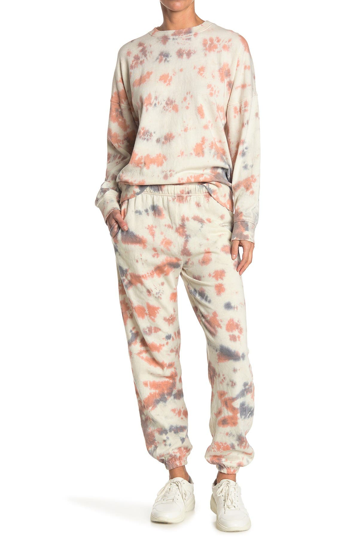 Image of Threads 4 Thought Boyfriend Tie-Dye Organic Cotton Blend Sweatpants