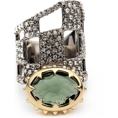 Alexis Bittar Modern Georgian Pave Check Ring
