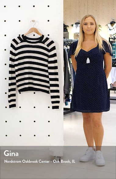 Stripe Cashmere Crewneck Sweater, sales video thumbnail