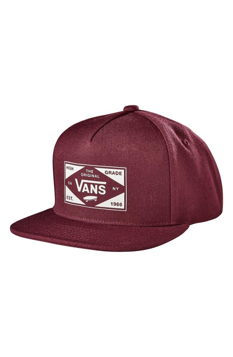 VANS Best in Class Snapback Baseball Cap, Main, color, PORT ROYALE