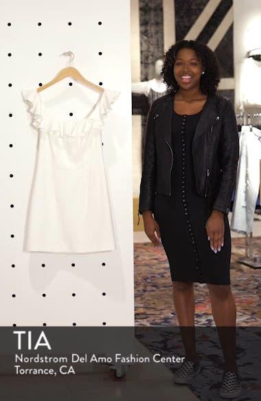 Whisper Light Off the Shoulder Ruffle Minidress, sales video thumbnail