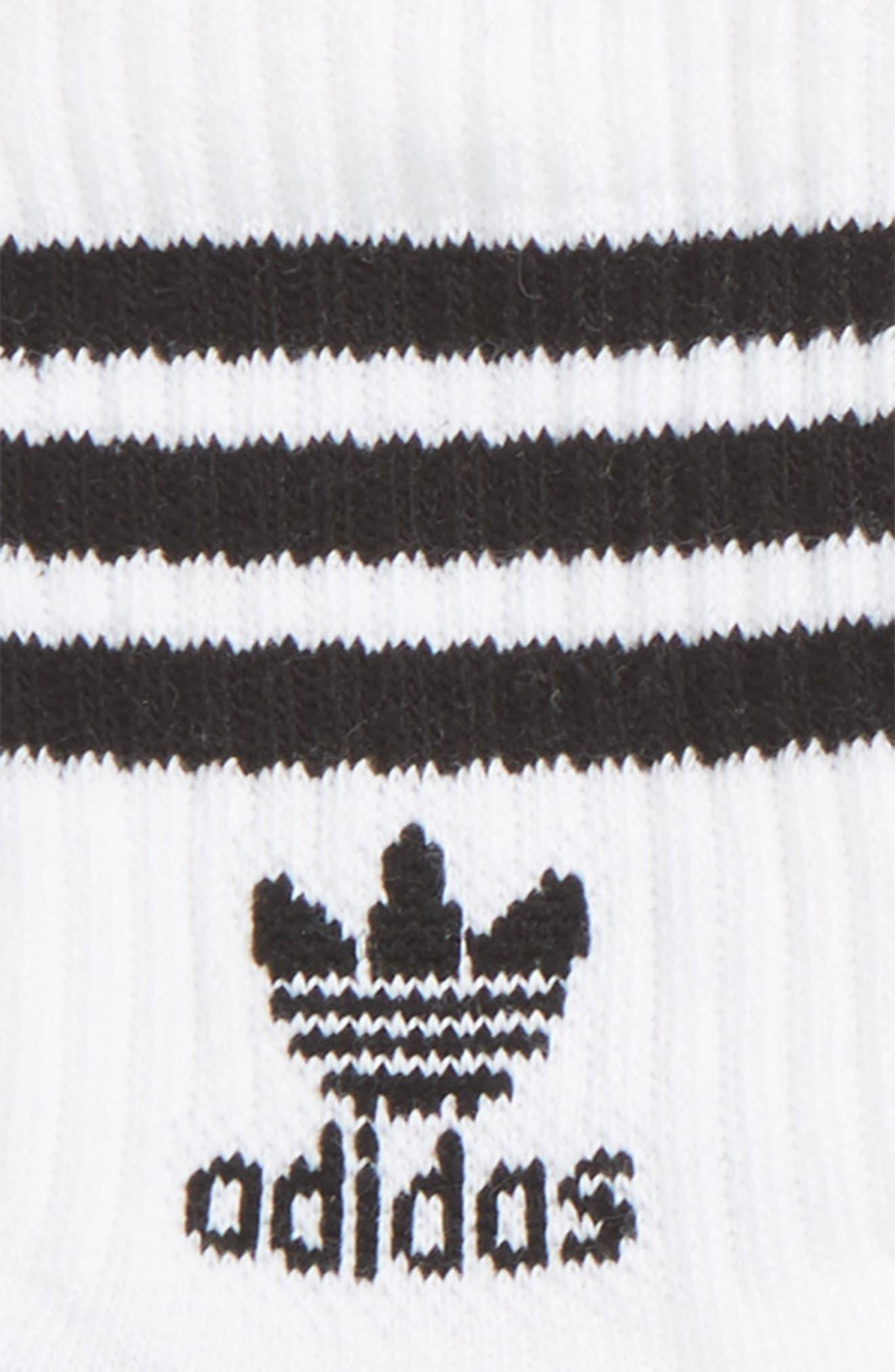 ,                             3-Pack Quarter Crew Socks,                             Alternate thumbnail 2, color,                             WHITE