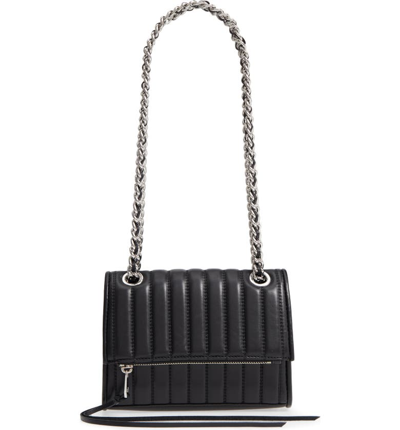 REBECCA MINKOFF Dylan Quilted Leather Crossbody Bag, Main, color, 001