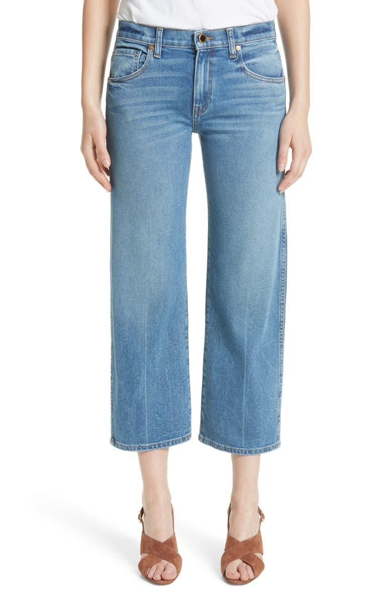 KHAITE Wendall Wide Leg Crop Jeans, Main, color, VINTAGE BLUE