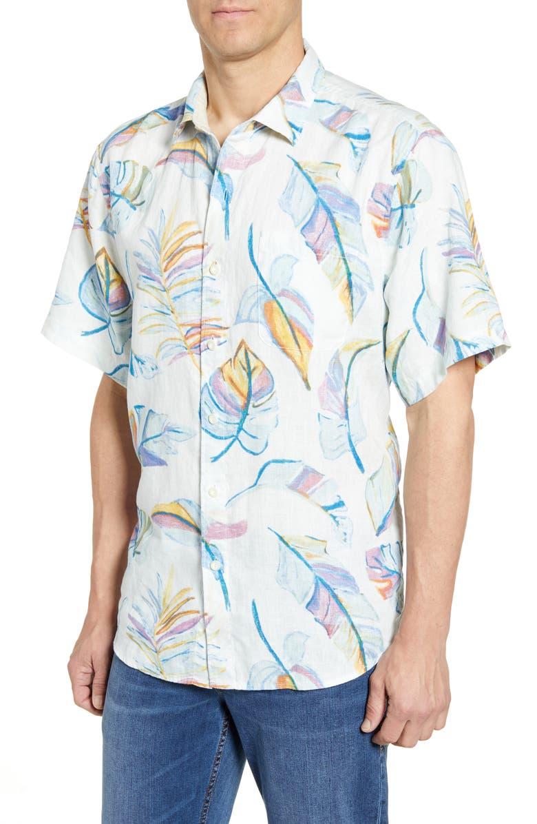 TOMMY BAHAMA Raphael Classic Fit Linen Shirt, Main, color, 100