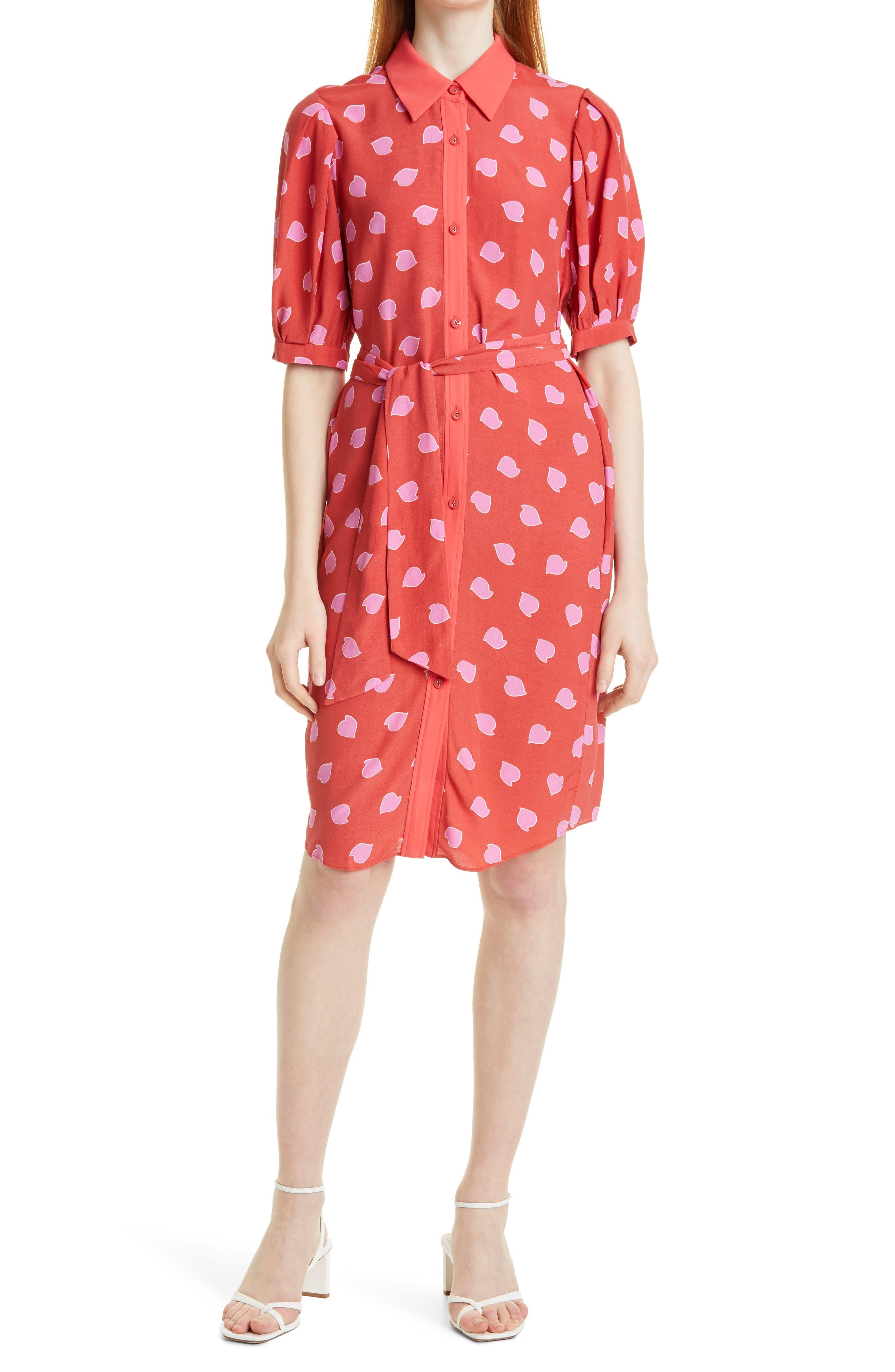 Amanda Petal Print Shirtdress