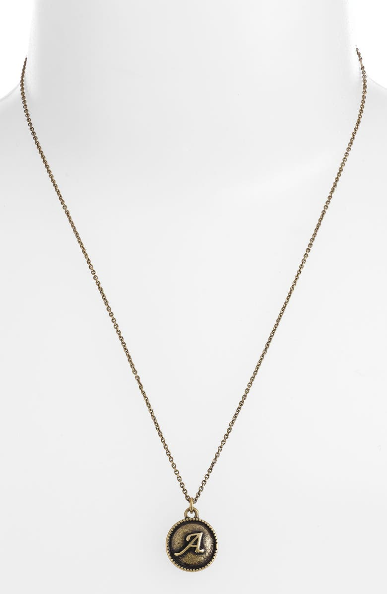 CAROLE 'Initial' Pendant Necklace, Main, color, 700