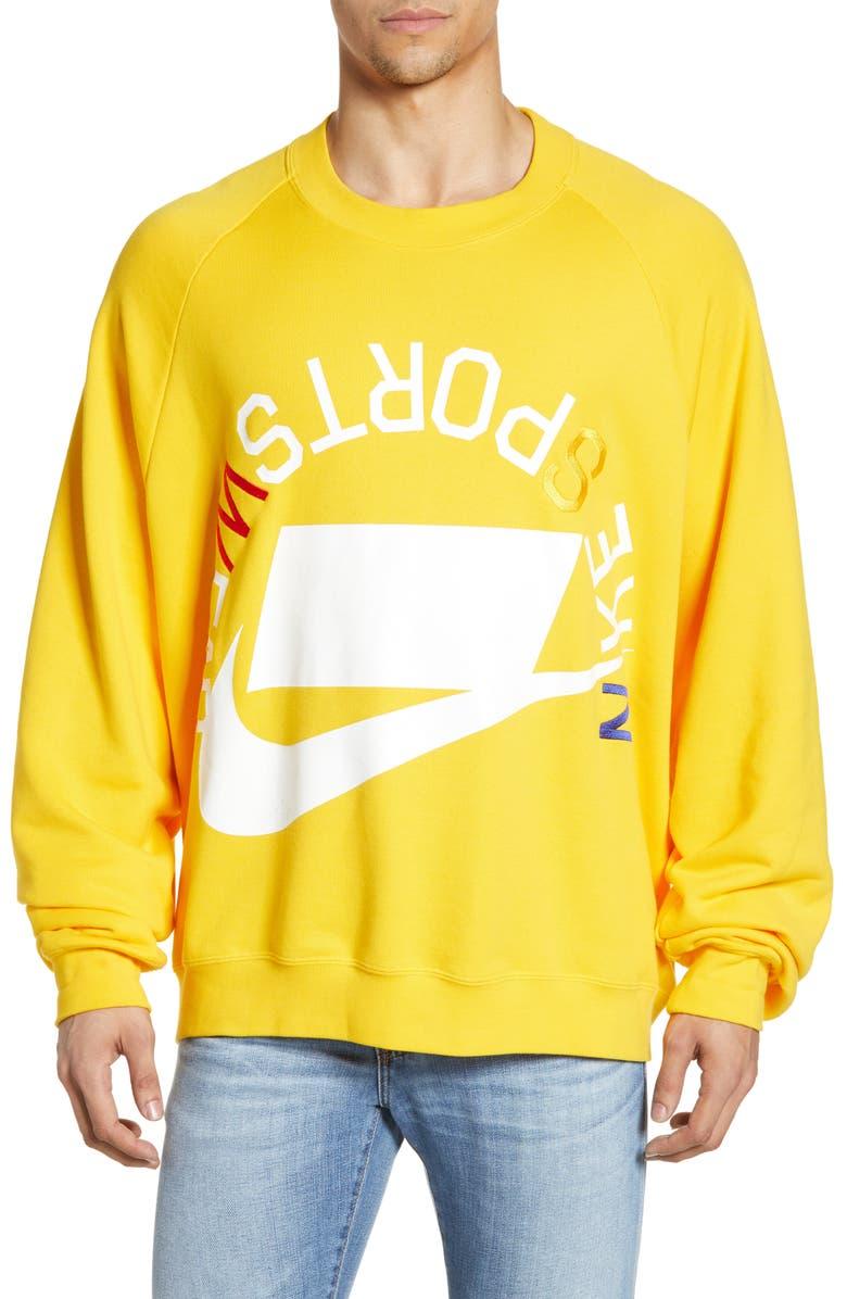 NIKE Embroidered Crewneck Sweatshirt, Main, color, 741