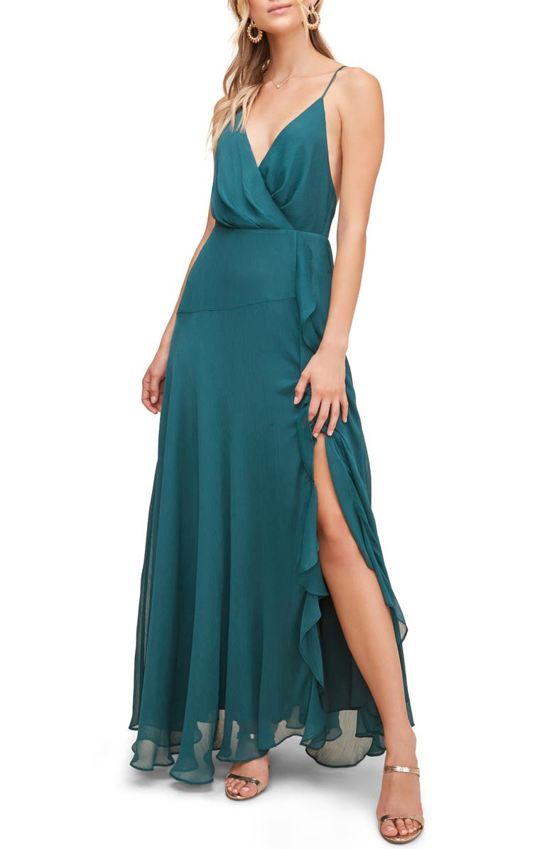 ASTR THE LABEL Floral Ruffle Detail Maxi Dress, Main, color, 301