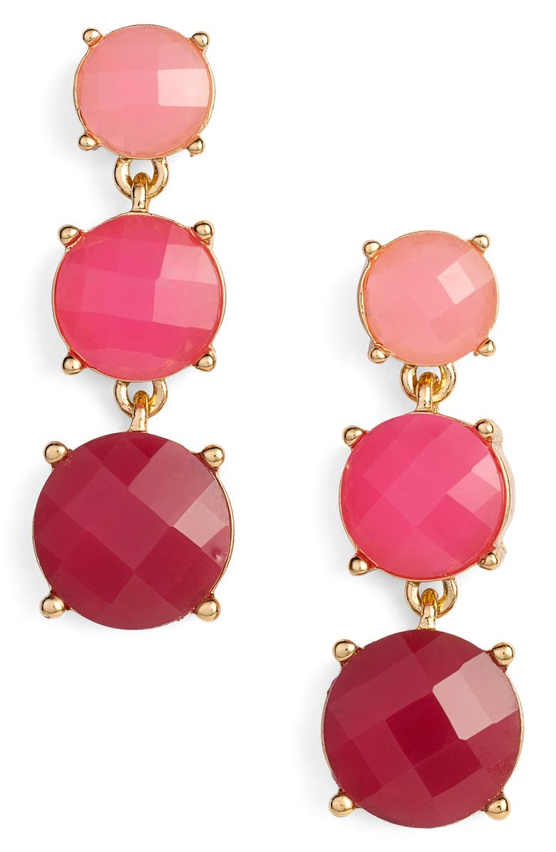 KATE SPADE NEW YORK 'smell the roses' linear drop earrings, Main, color, 650