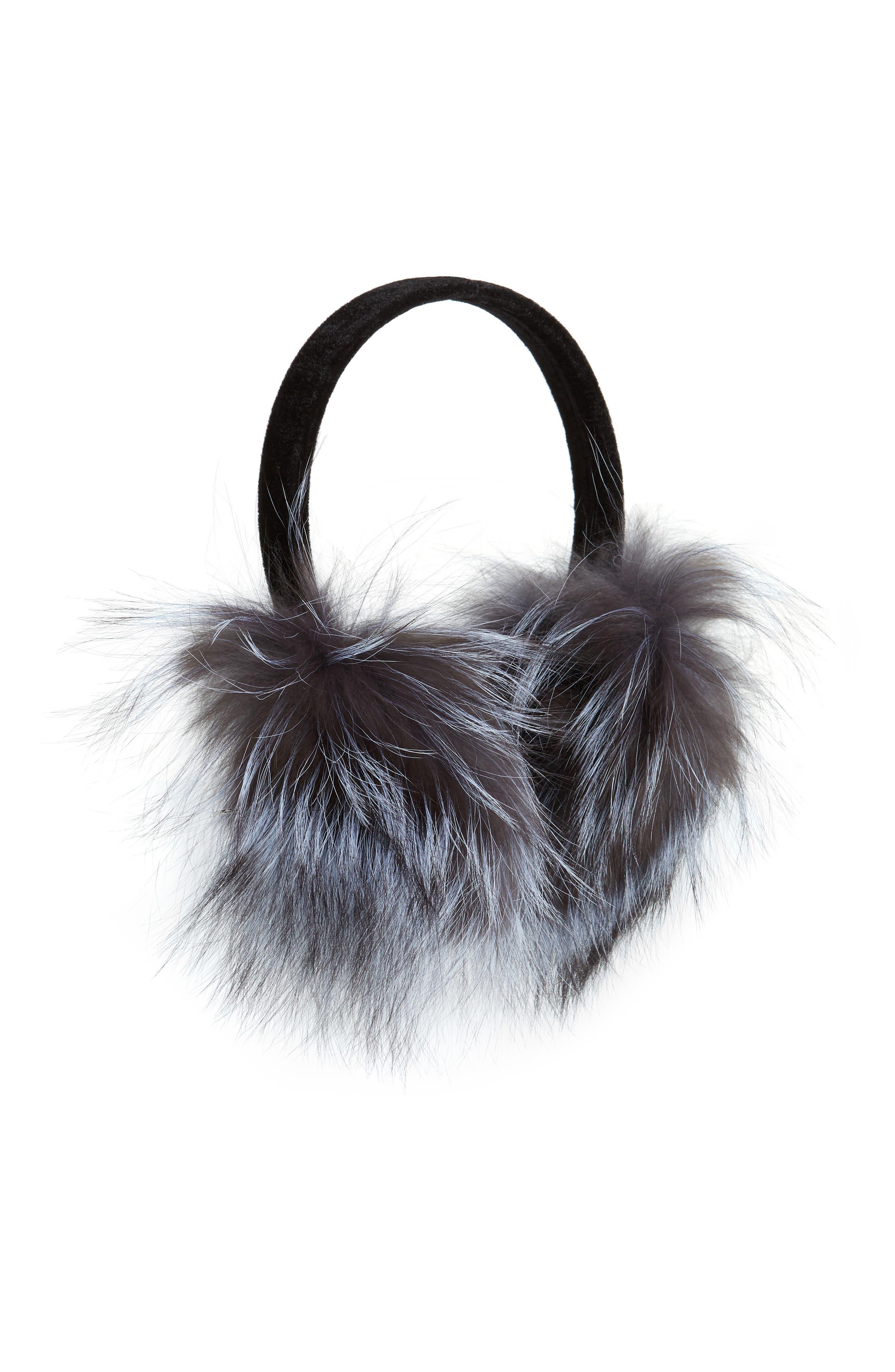 ,                             Genuine Fox Fur Earmuffs,                             Main thumbnail 3, color,                             040
