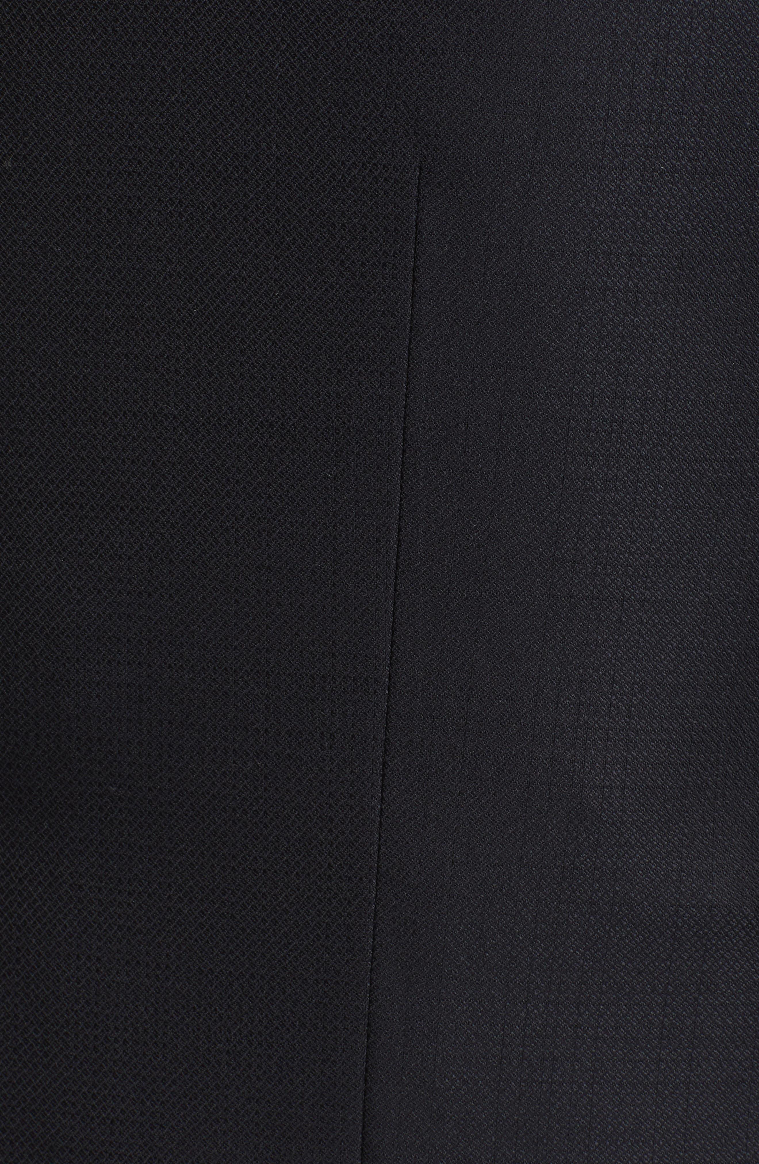 ,                             Classic Fit Plaid Wool Suit,                             Alternate thumbnail 7, color,                             BLACK