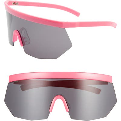 Rad + Refined Retro Shield Sunglasses - Pink/ Black Lens