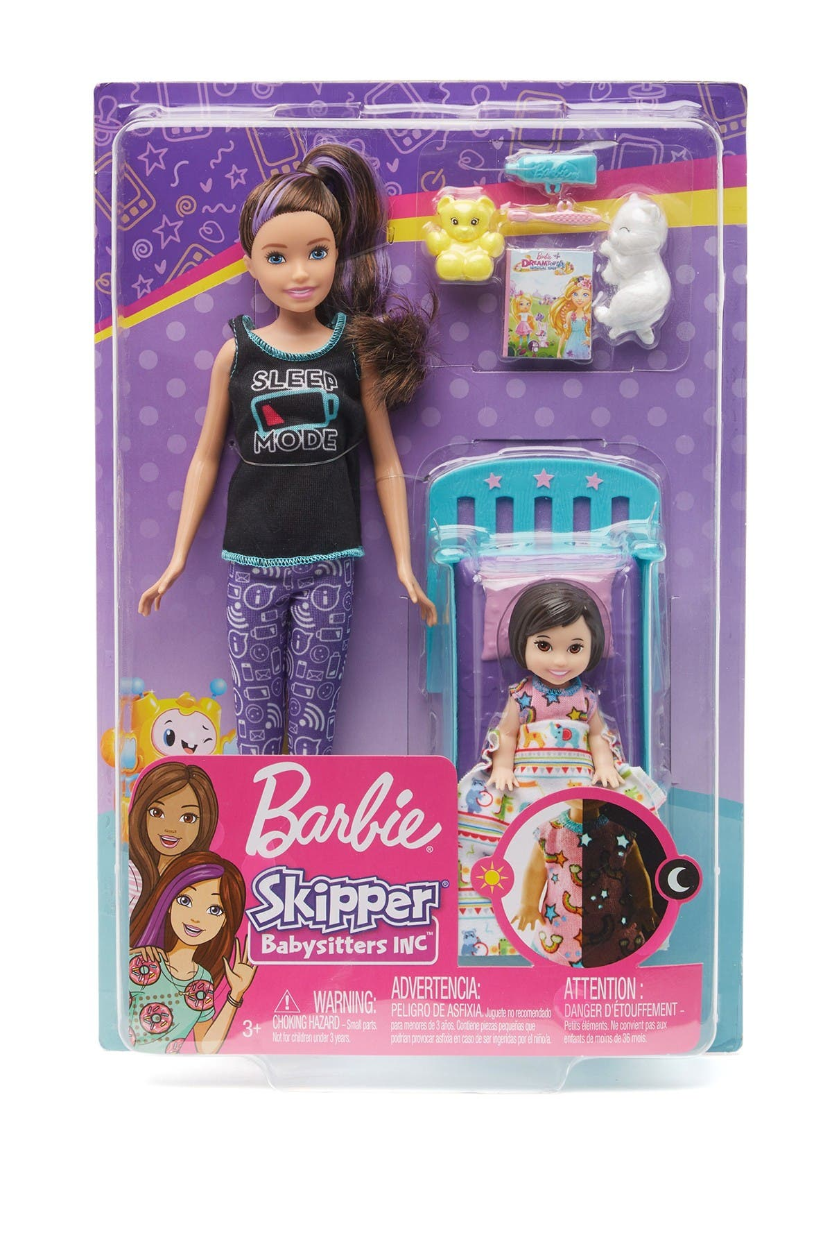 Image of Mattel Bedtime Playset with Skipper™ Doll, Toddler Doll and More