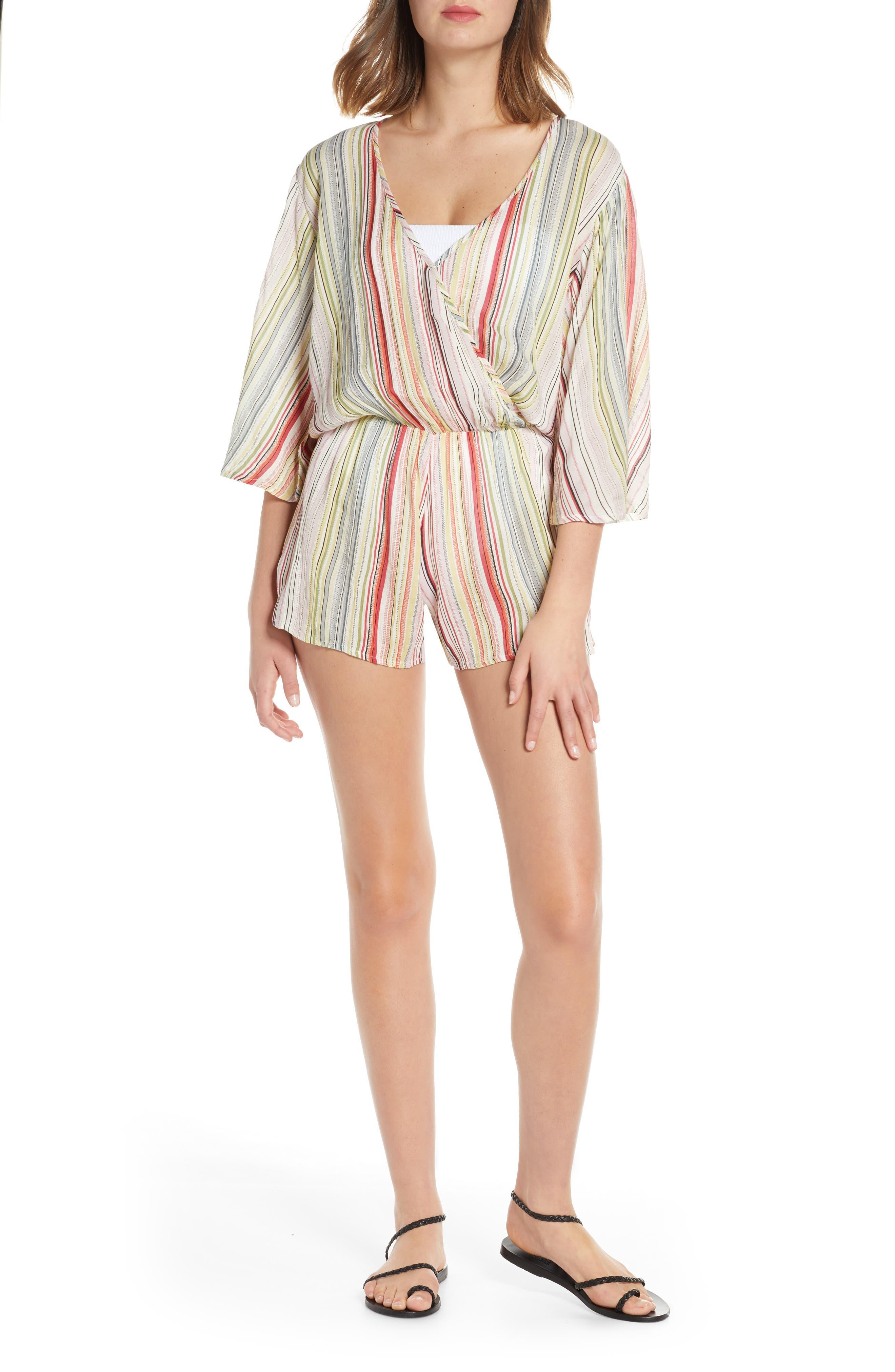 Elan Stripe Cover-Up Romper