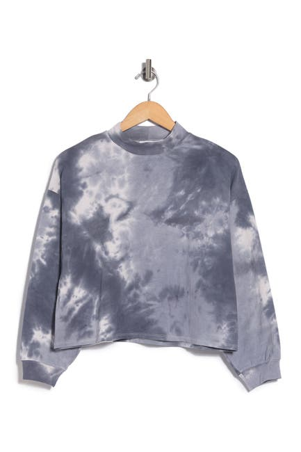 Image of Lush Tie-Dye Long Sleeve Cropped Top