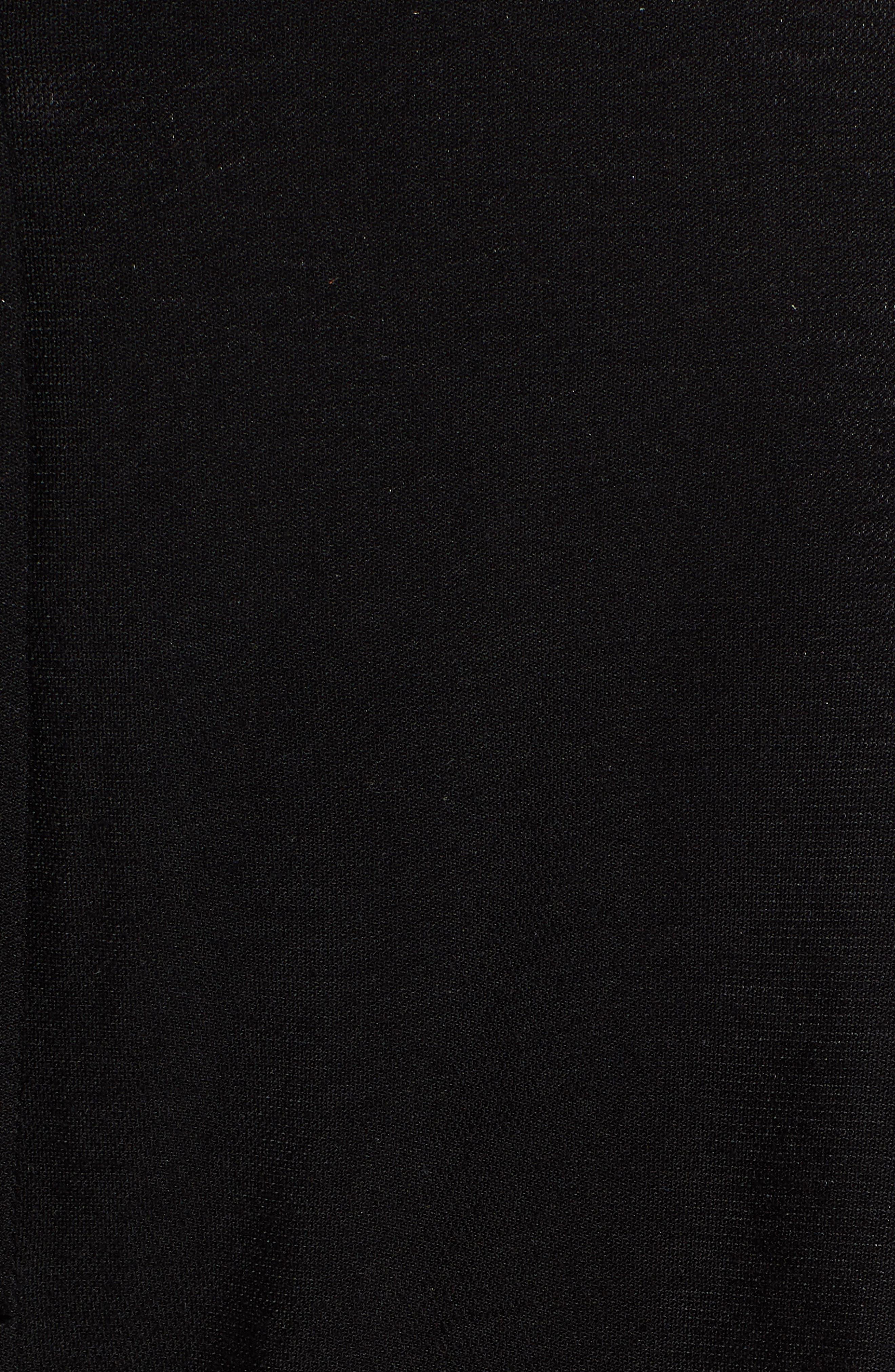 ,                             Pleat High Waist Ankle Pants,                             Alternate thumbnail 5, color,                             BLACK