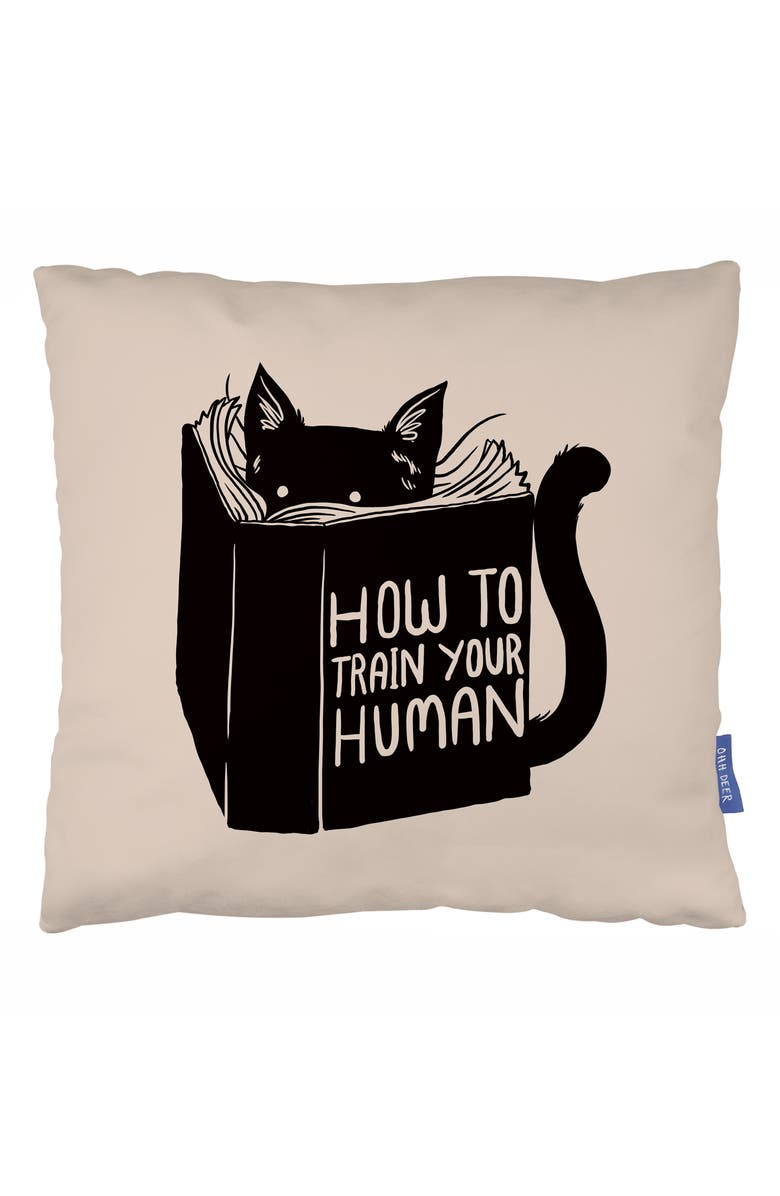 OHH DEER Train Your Human Accent Pillow, Main, color, 900