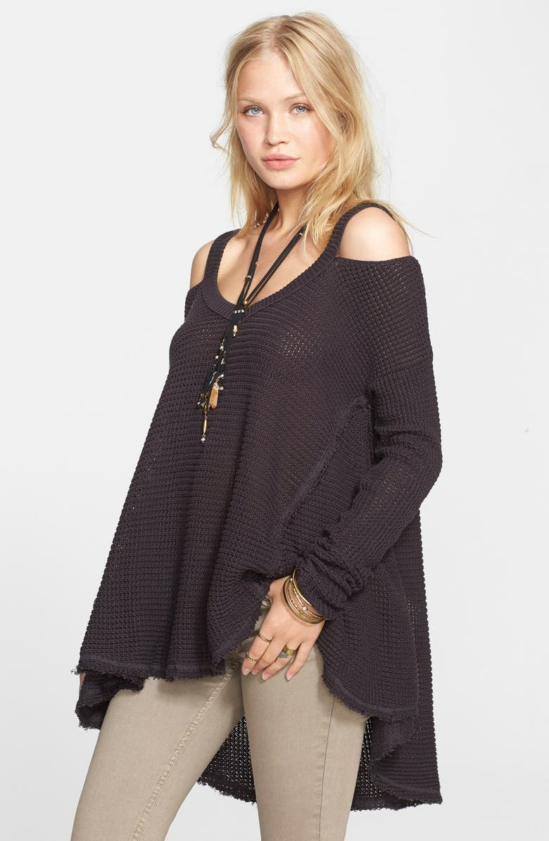 FREE PEOPLE 'Moonshine V' Cold Shoulder Sweater, Main, color, 020