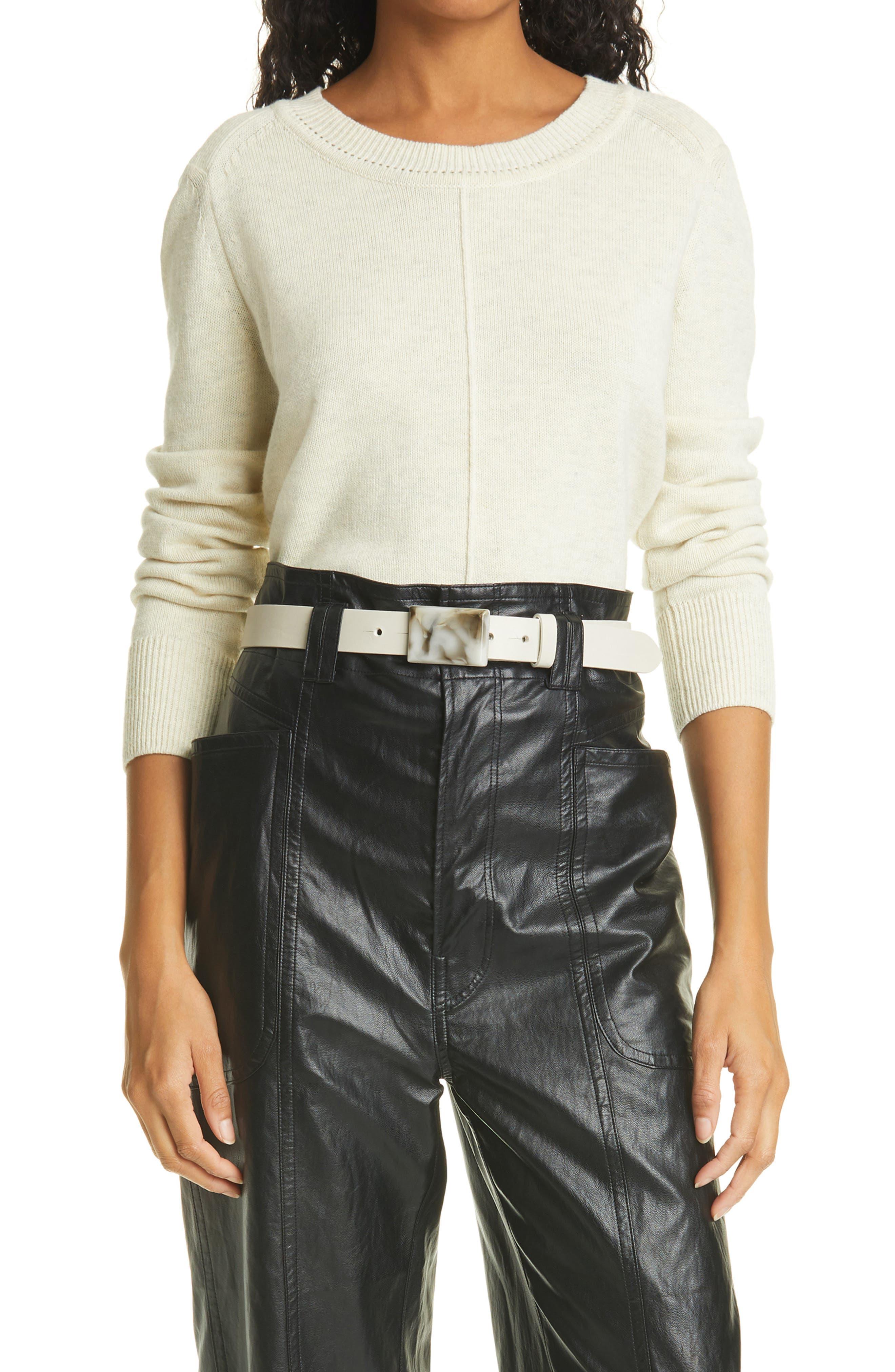 Women's Isabel Marant Etoile Center Seam Cotton & Wool Sweater