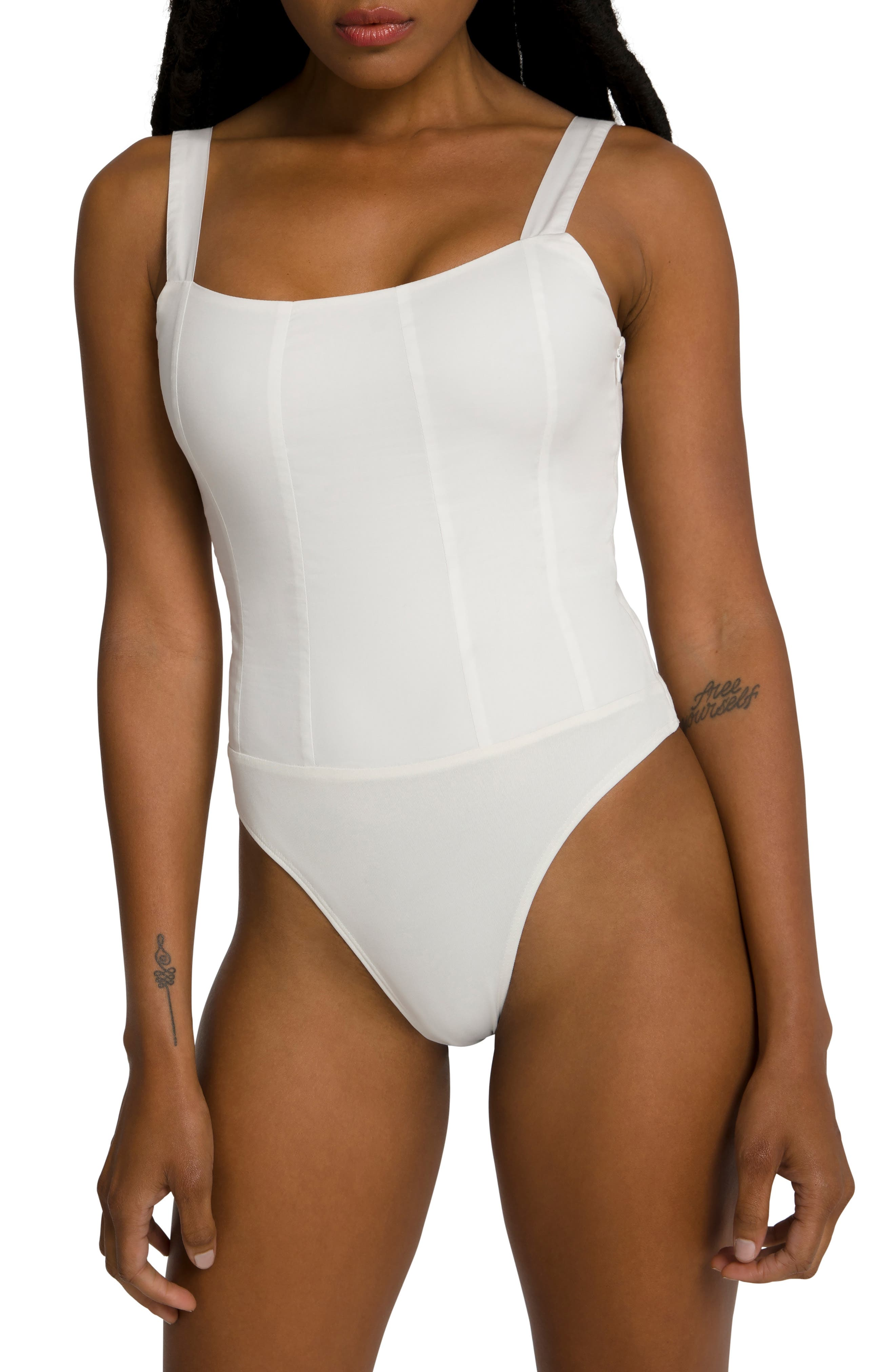 Good American Contoured Thong Bodysuit (Regular & Plus Size)   Nordstrom