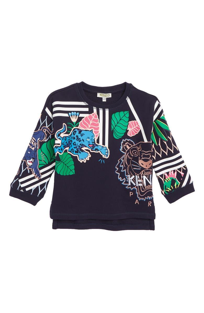 KENZO Multi Iconics Sweatshirt, Main, color, NAVY