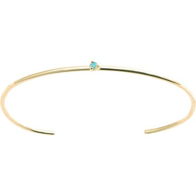 Wwake Botany Collection Single Opal Cuff