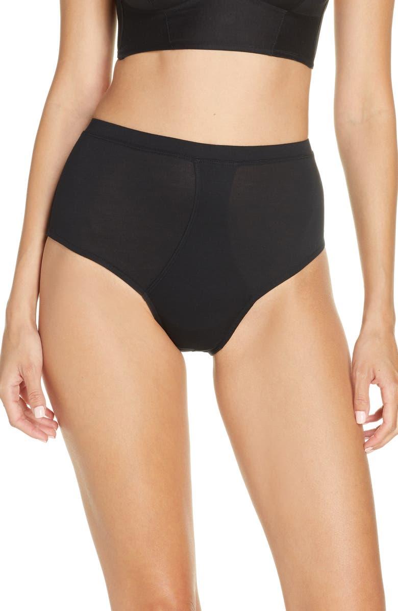 KIKI DE MONTPARNASSE Intime High Waist Panties, Main, color, BLACK