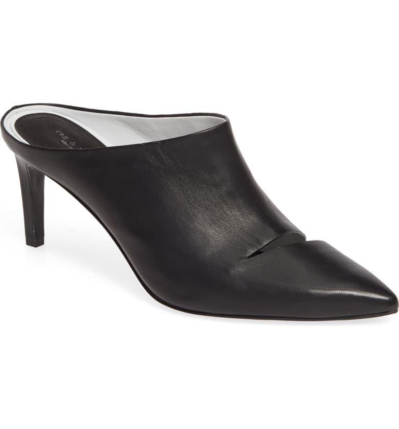 RAG & BONE Beha Cutout Pointy Toe Mule, Main, color, BLACK